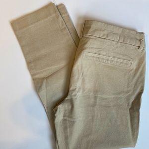 Khaki Old Navy Pixie Pants Mid-Rise Pant Size 4